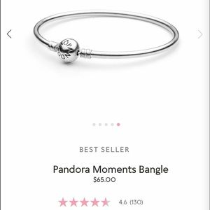 Authentic Pandora silver bangle